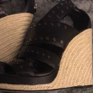 BCBGMaxAzria Shoes - Bcbgmaxazria studded wedges 7.5